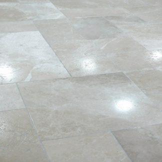 Pearl Grey Brushed Opus Pattern marble floor