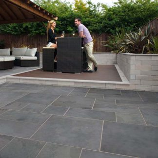 20mm Black Brazilian Slate Cleft