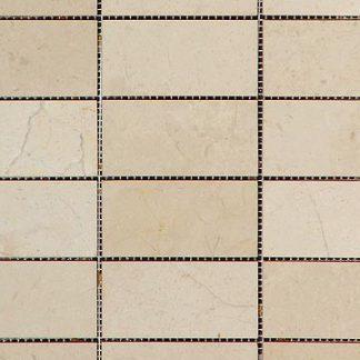 Crema Olympus Marble Polished Mosaic Tiles