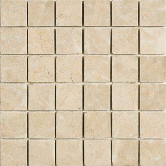 Crema Olympus Marble Tumbled Mosaic Tiles