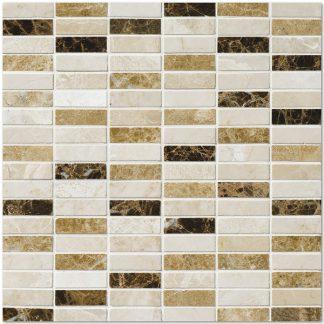 Navona Travertine Honed Mosaic Tiles
