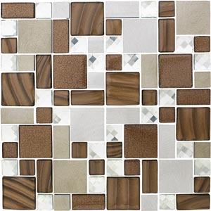 Irregular Shaped Glass Mosaics
