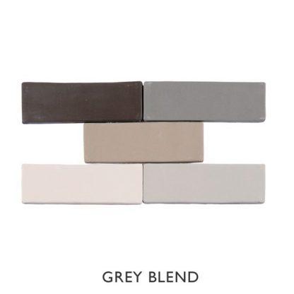 Kaleidoscope Grey Blend 150 x 50mm Brick Ceramic Tiles
