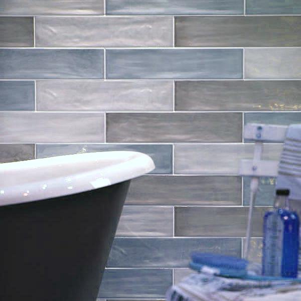 Kennet Blue Blend Glazed 400 x 100mm Brick Ceramic Tiles
