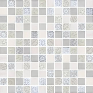 Lux Effect White Mosaic Glass Tiles