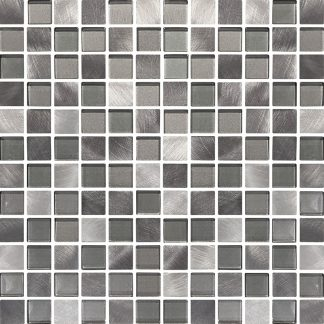 Marbella Square Glass & Metal Mosaic Tiles