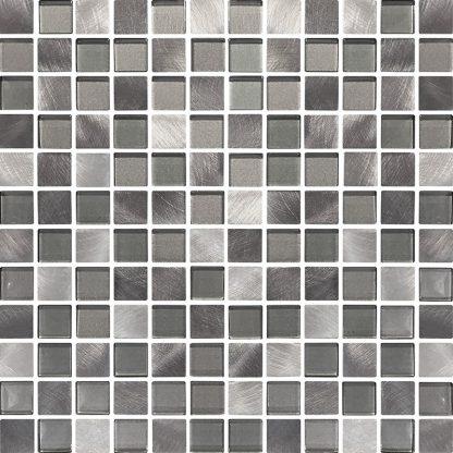 Marbella Square Glass & Metal Mosaic Tiles