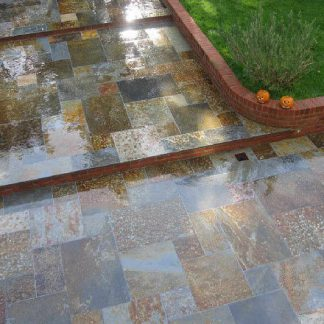 Multicolour Brazilian Slate Small Opus Cleft