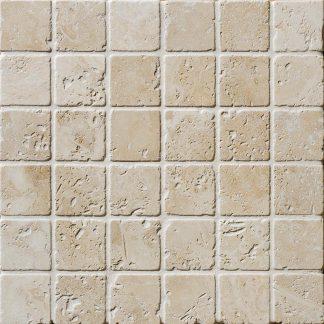 Navona Travertine Tumbled Mosaic Tiles