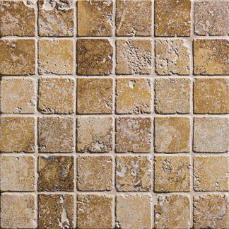 Noce Travertine Tumbled Mosaic Tiles