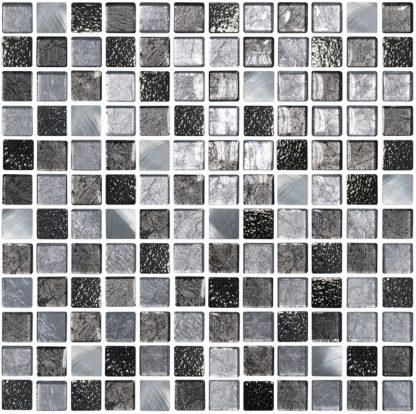 Pamploma Square Glass & Metal Mosaic Tiles