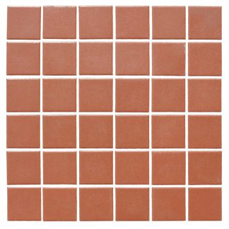Red Victorian Vitrified Porcelain Mosaic Tiles