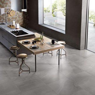 Grey Allover Concrete Effect Tile, Minoli 600 x 600 and 600 x 300
