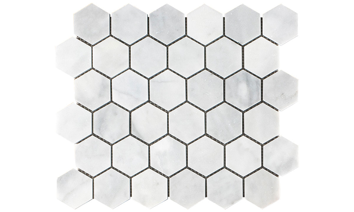 Sugar White Hexagon Mosaic