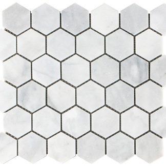 Aphrodite Marble Hexagon Mosaic Tiles